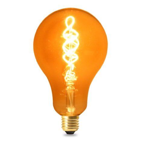 Bombilla-LED-Filamento-Espiral-E27-A100-4W-Ámbar