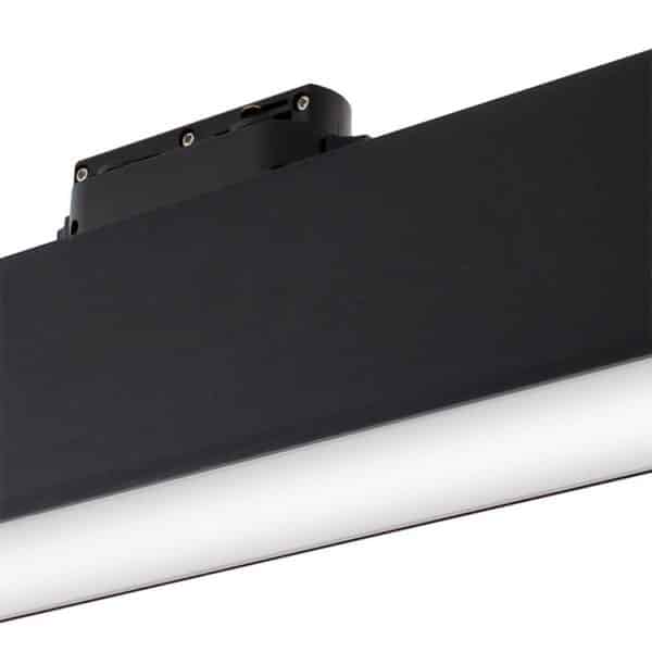 foco led carril lineal track 12 w negro