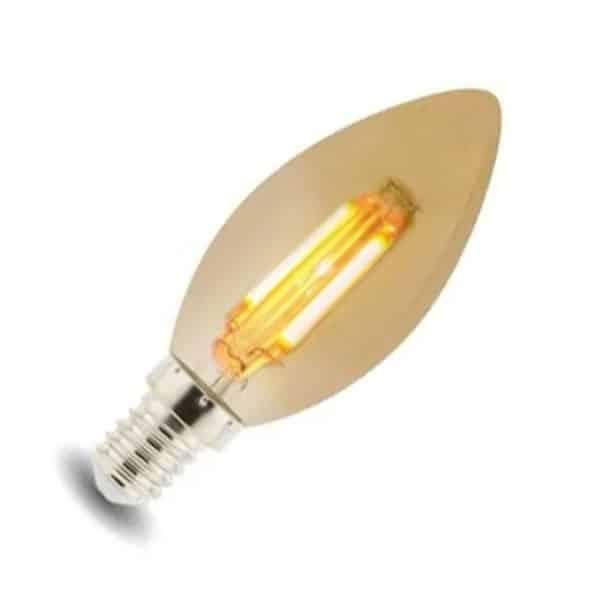 Bombilla LED E14 C35 vintage ambar 4W