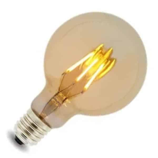 Bombilla LED G125 6W filamento E27