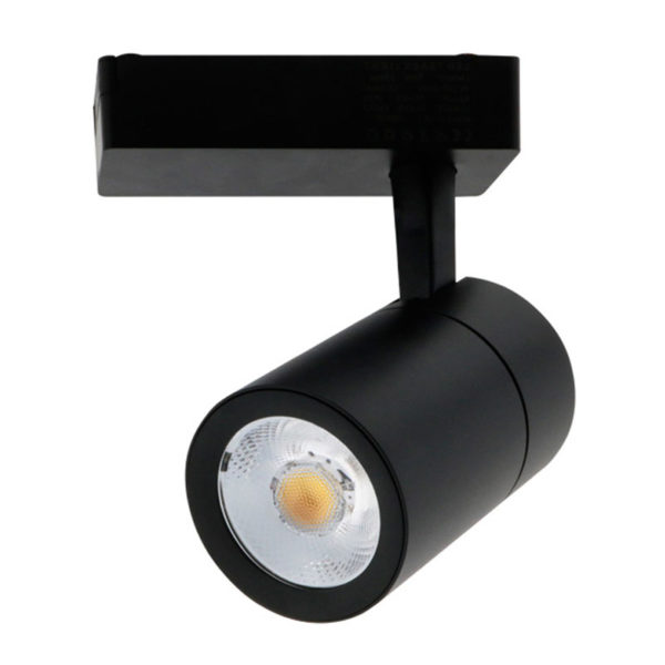 Foco carril LED 30W negro clean
