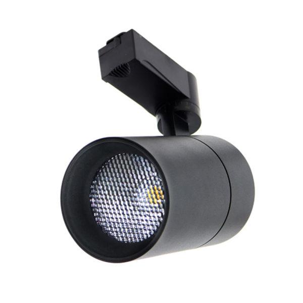 Foco carril LED negro UGR17