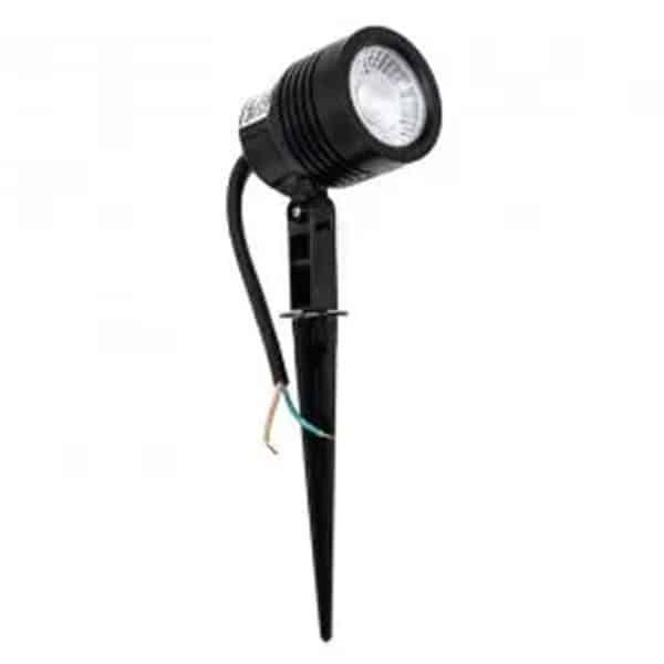 Foco exterior LED negro pincho 6W
