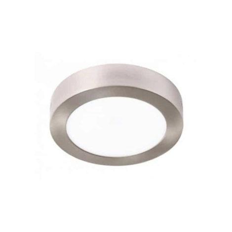 Plafón circular LED redondo 12w níquel