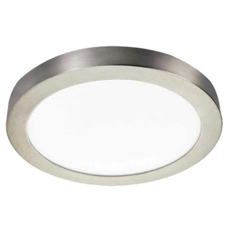 Plafón LED circular 24W níquel