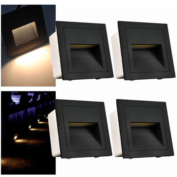 Balizas arote 4 piezas negro