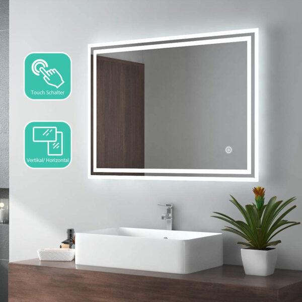 EMKE espejo LED baño táctil con luz