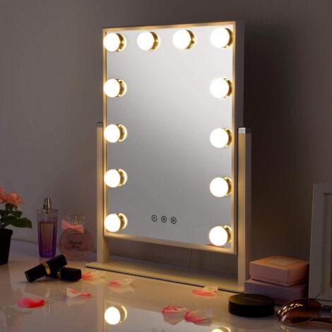 Hallywood 2021 espejo mesa con luz