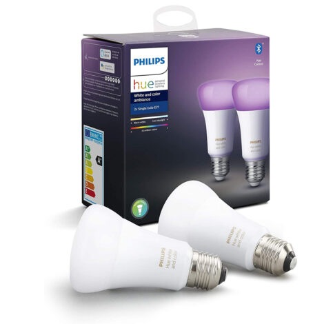 Philips HUE E27 LED 2 bombillas