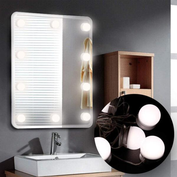Poner luces LED espejo cristal