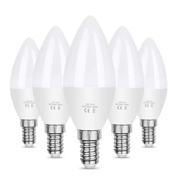Vilcoon oferta 5 bombillas LED vela