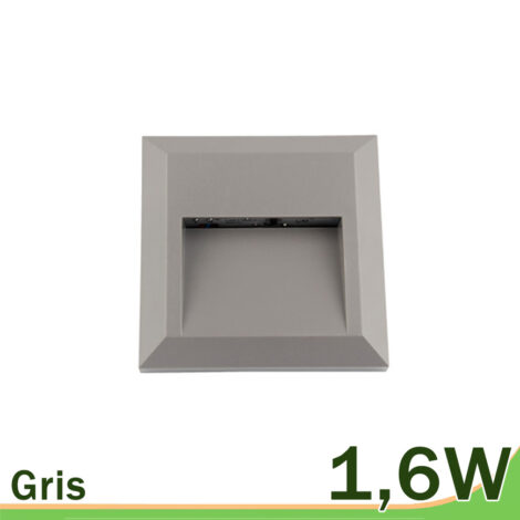 Aplique pared gris LED exterior