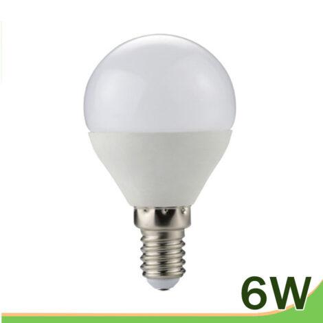 bombilla led 6w e14 g45