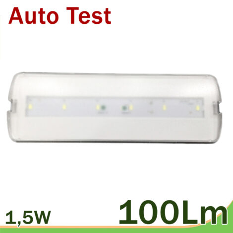 Emergencia LED auto test 100 lm