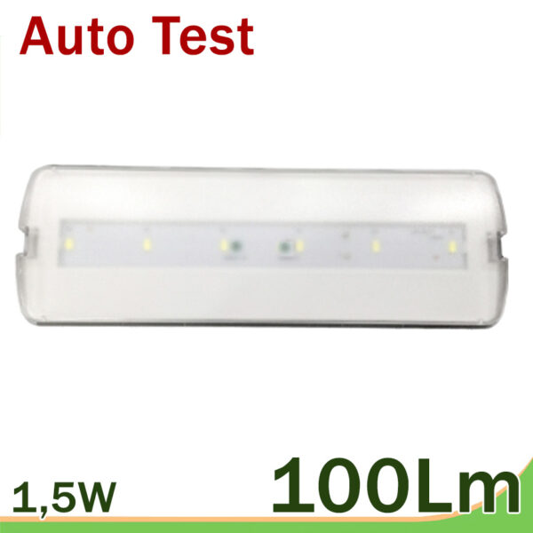 Emergencia LED auto test 100 lm