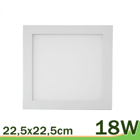 Panel LED 18W cuadrado blanco