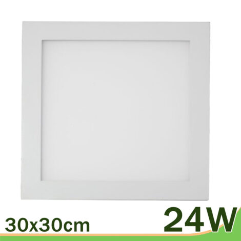 Panel downlight LED cuadrado blanco 30x30 24W