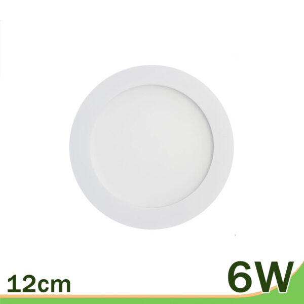 Panel downlight redondo blanco 6W empotrar