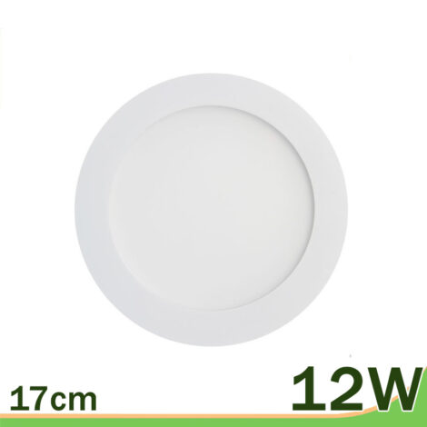 Panel downlight LED 12w redondo blanco
