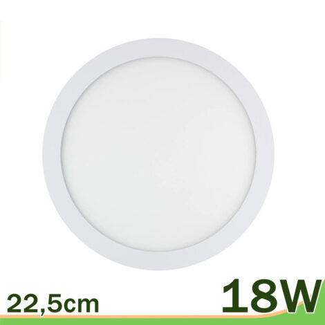 Panel led redondo downlight 18W blanco