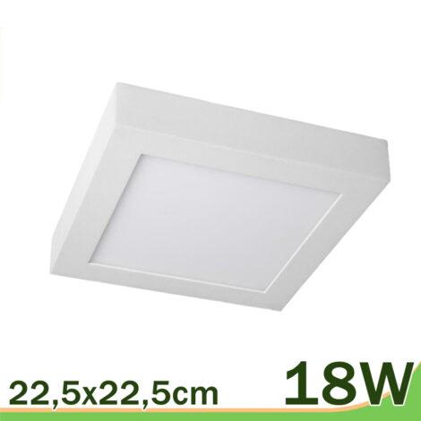 Plafón downlight superficie techo 18w blanco