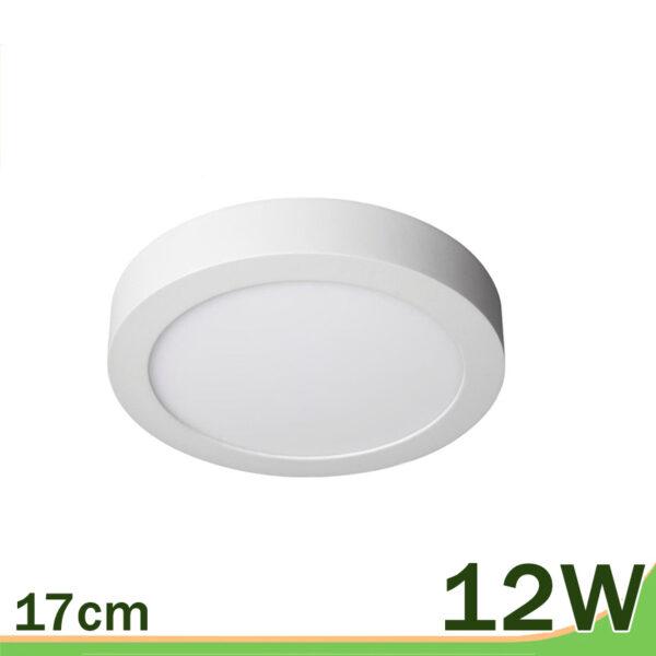 Plafón de superficie redondo blanco 12W