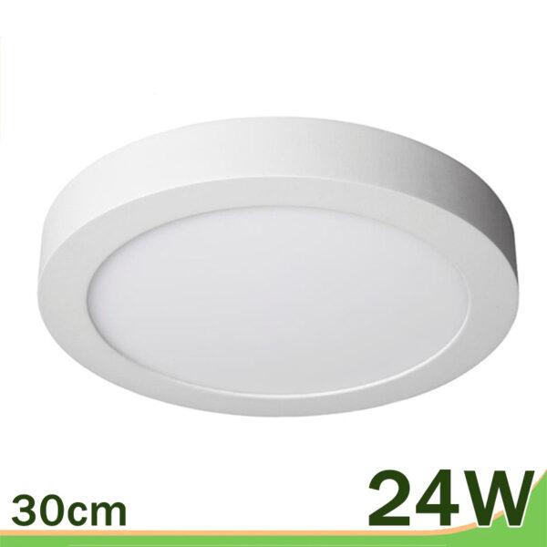 Plafón de superficie downlight 24W redondo blanco