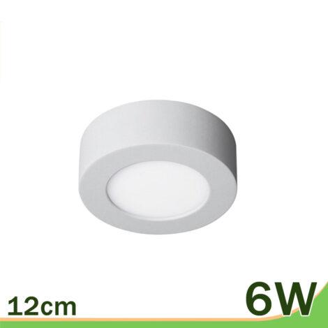 Plafón superficie LED redondo blanco 6W