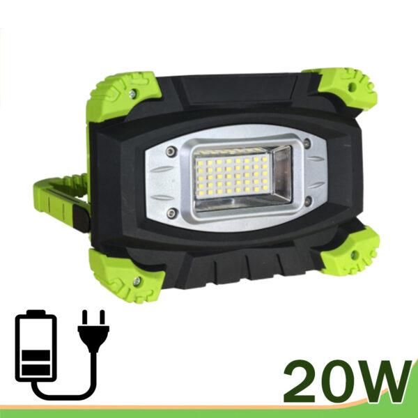 Proyector con batería recargable LED 20W