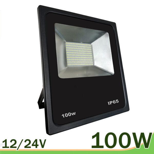 Proyector LED 100w negro smd 12v 24v