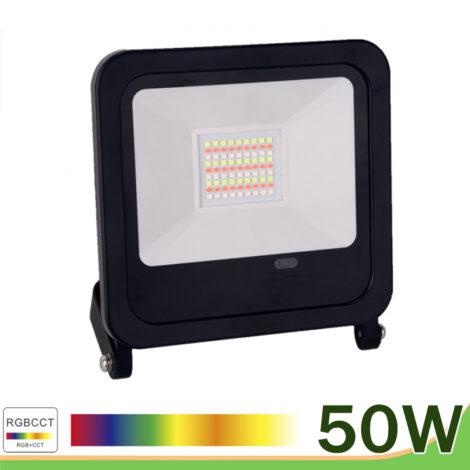 Proyector led 50w negro rgb cct