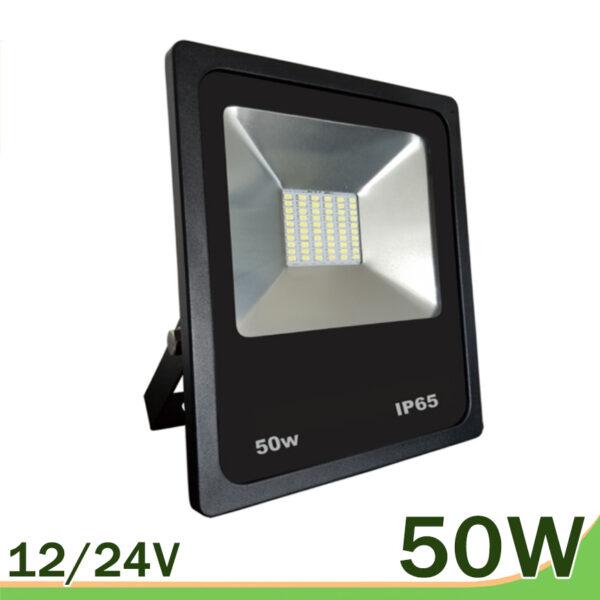 proyector led 50w 12V 24V smd negro